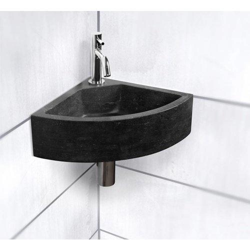 Hardsteen Fontein Set Corner Kwartrond 30X30X11 Cm