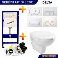 Up100 Toiletset 03 Megasplash Basic Smart Met Bril En Drukplaat