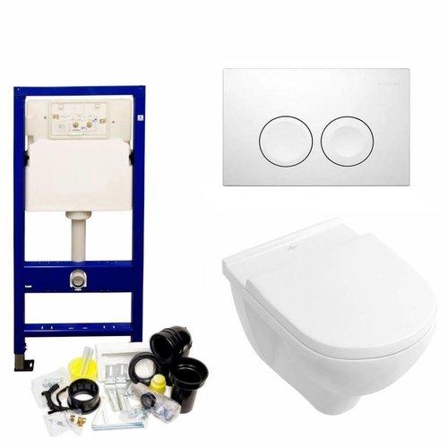 Up100 Toiletset 30 Villeroy & Boch O.Novo Direct flush Met Bril En Drukplaat