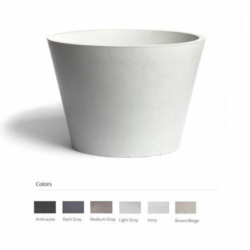 Opzet Wastafel  Circum Beton 38x31 cm ( 6 Kleuren)