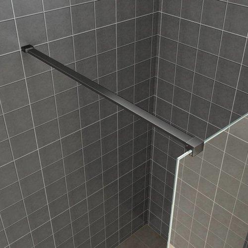 Vierkante Stabilisatiestang 120 cm Mat Zwart (complete set)