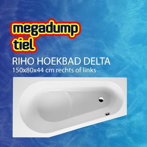 Hoekbad Delta 150X80X44 Cm Rechts/Links Wit