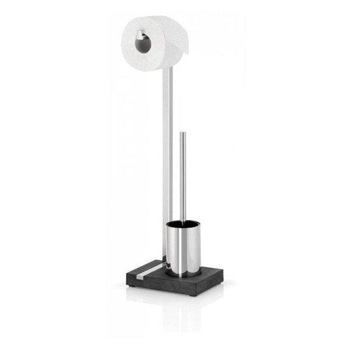 Toiletrolhouder En Borstel Blomus Menoto Design Gepolijst RVS