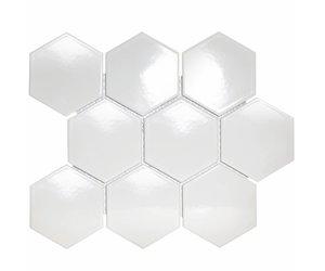 Hexagon Tegels Wit : Hexagon mozaïek mozaïekjes vloerbedekking ideeën uw vloer