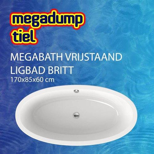 Vrijstaand Ligbad Britt 170X85X60 Cm