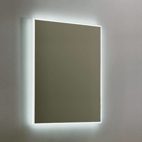 Spiegel Sanilux Mirror Infinity Aluminium met LED Verlichting en Spiegelverwarming (alle maten)