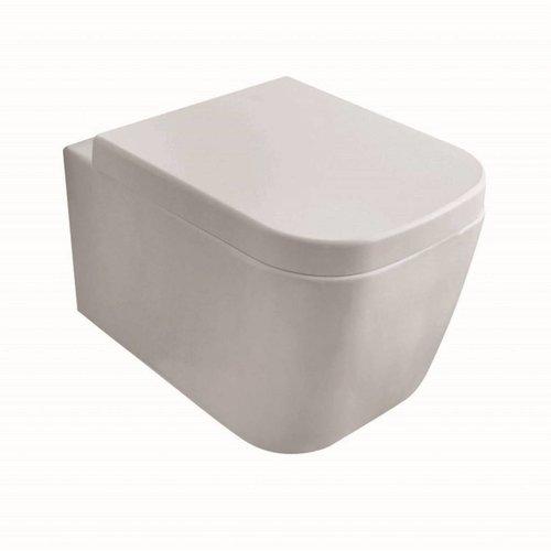 Wandcloset Globo Stone Verkort 45x36 cm Wit (toiletzitting optioneel)
