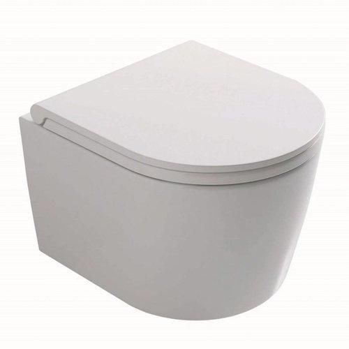 Wandcloset Globo Forty3 Verkort 43x36 cm Wit (toiletzitting optioneel)
