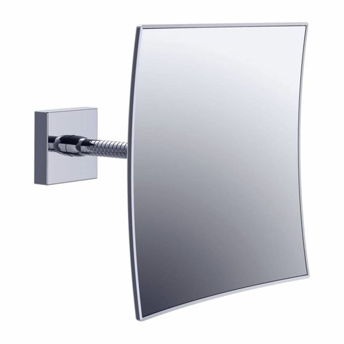 Scheerspiegel Flexibele Arm Vierkant Vergrotend 20x20cm Chroom