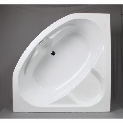 Hoekbad Acryl 140x140x60 cm Wit