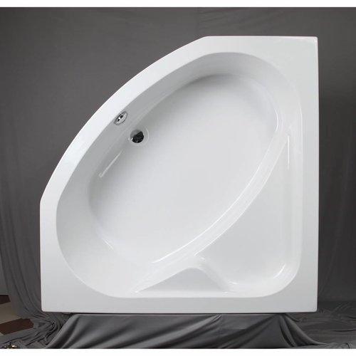 Hoekbad Acryl 130x130x60 cm Wit