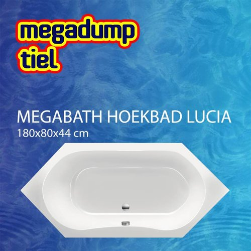 Hoekbad Lucia 180X80X44 Cm