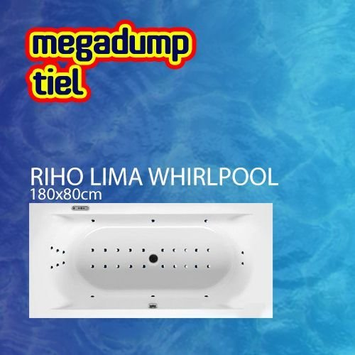 Ligbad Lima 180X80X46 Cm Sportpakket Deluxe Whirlpool