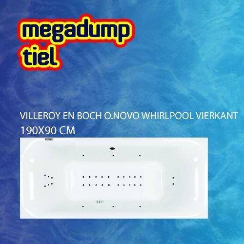 O.Novo Whirlpool Vierkant 190X90X48 Cm Sportpakket Deluxe