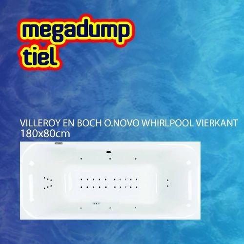 O.Novo Whirlpool Vierkant 180X80X48 Cm Sportpakket Deluxe