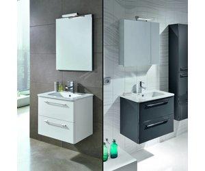 Dekker badkamermeubel klea 60cm hoogglans wit of antraciet