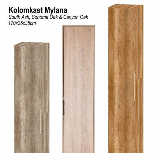 Kolomkast Mylana 170x35x35cm Softclose (In 3 kleuren verkrijgbaar)