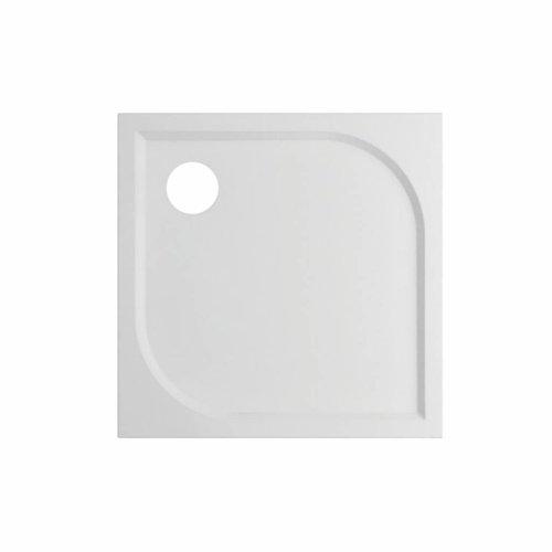 Douchebak VM Go Argon 90x90x3cm Polybeton Vierkant Wit Sanitair Coating