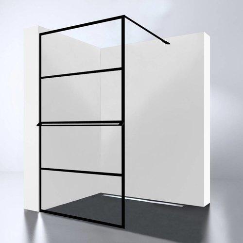 Inloopdouche Best Design Noire 100x200cm 10mm Easy Clean Mat Zwart