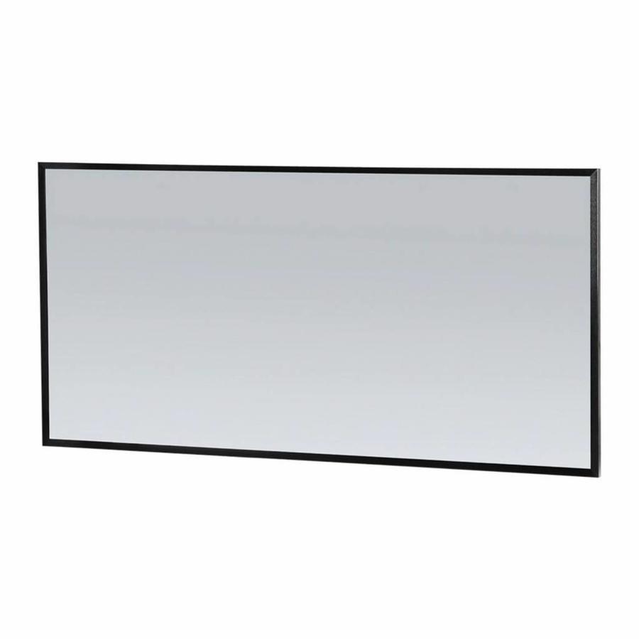Spiegel Topa Silhouette 140x70x2.5 cm Aluminium Mat Zwart