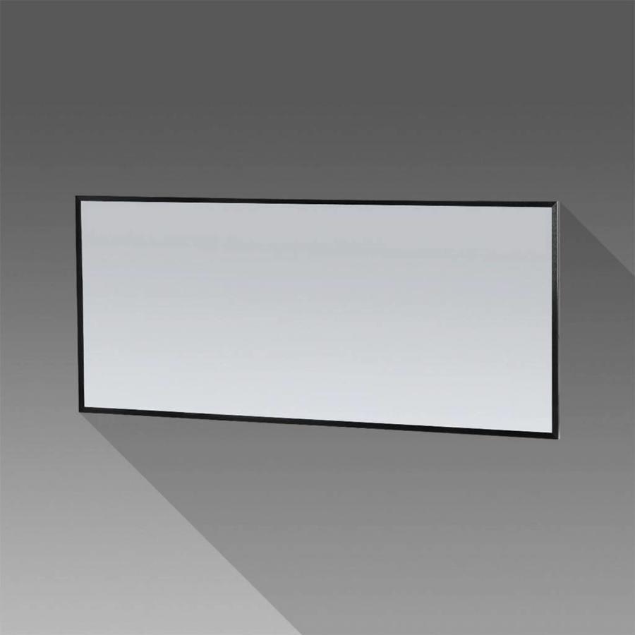 Spiegel Topa Silhouette 160x70x2.5 cm Aluminium Mat Zwart