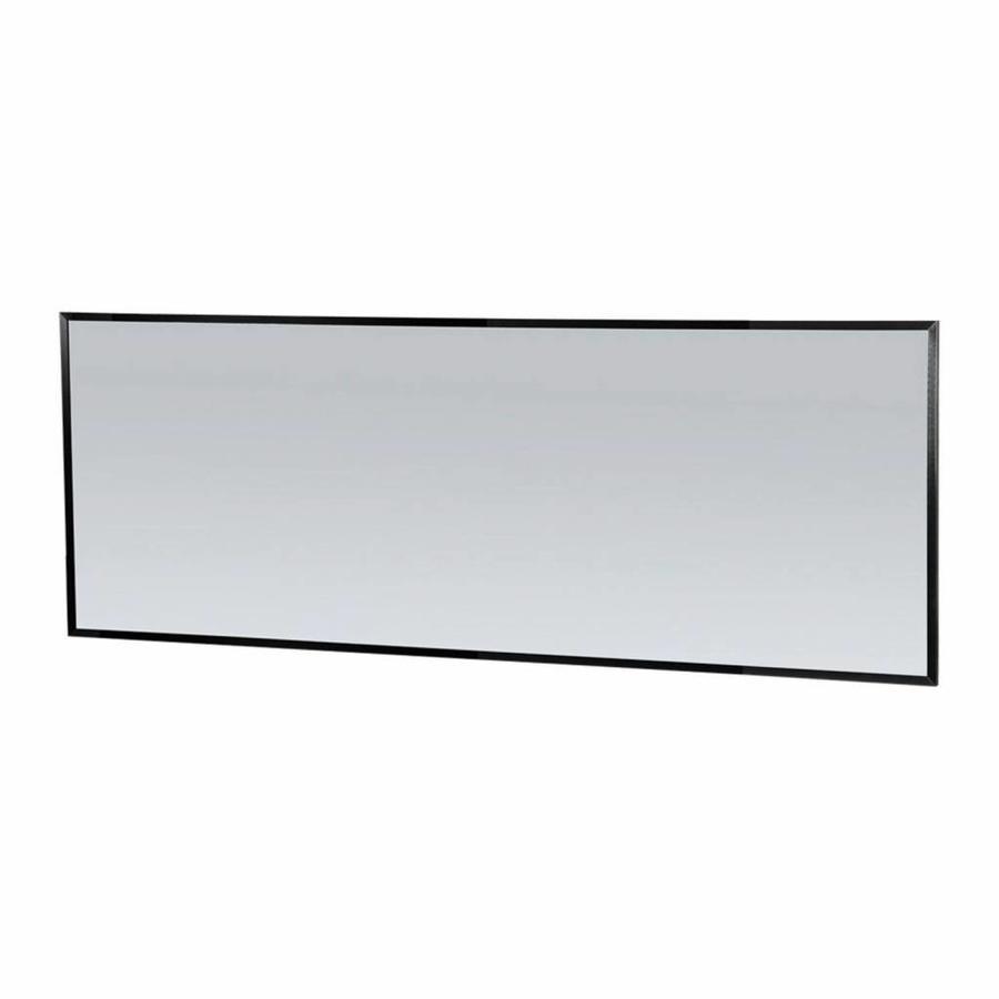 Spiegel Topa Silhouette 200x70x2.5 cm Aluminium Mat Zwart