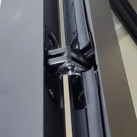 Aqua Splash Douchecabine Frame 90x80 cm 8 mm NANO Glas Mat Zwart Raster