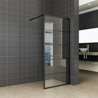 Inloopdouche Horizon Inclusief Mat Zwart Raster en NANO Glas  (ALLE MATEN)