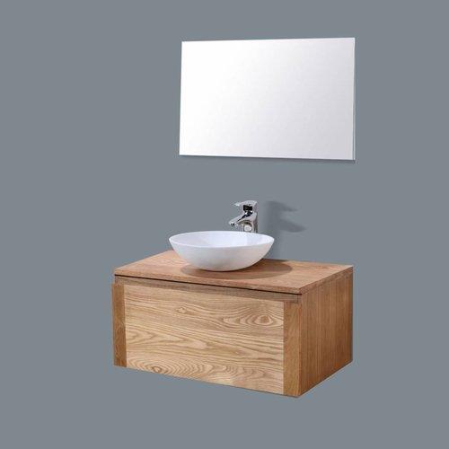 Badmeubel Vision Met Wood Top (In 4 Maten Verkrijgbaar)