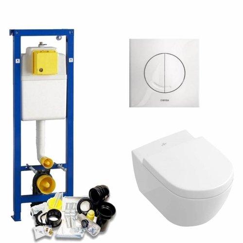 Xs Toiletset 32 Villeroy & Boch Subway 2.0 Direct flush Met Bril En Drukplaat