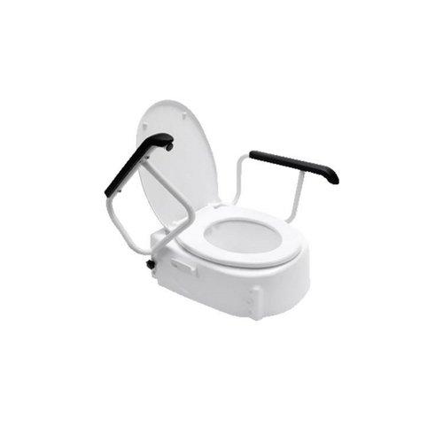 Toiletverhoger Handicare Linido met Deksel en Armleuningen Universeel 10 cm Wit (draagvermogen tot 130 kg)