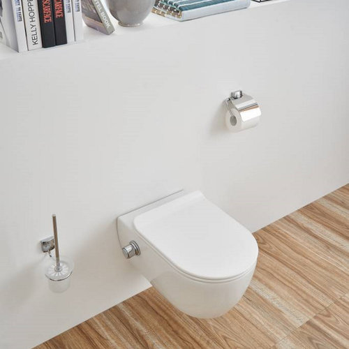 Wandcloset Sanilux Easy Flush Slim incl. Bidet 54 cm (incl zitting)