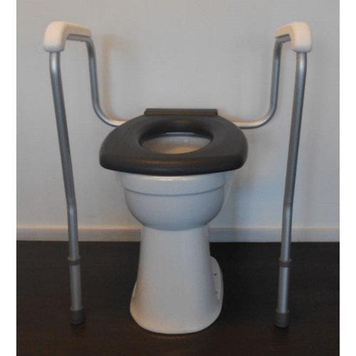 Toiletsteun Handicare Linido met Hulppoot 53x81 cm in Hoogte Verstelbaar Wit