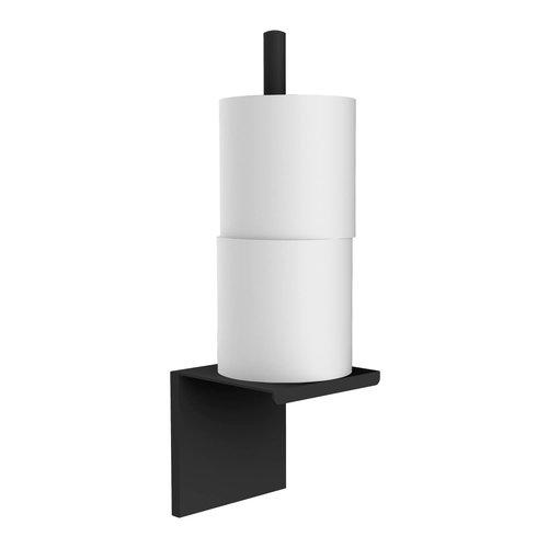 Closetrolhouder Allibert Loft-Game Hangend Model Mat Zwart (ruimte voor twee rollen)