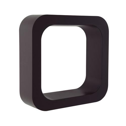 Planchet Damast Lettering-O 29x29 cm Zwart