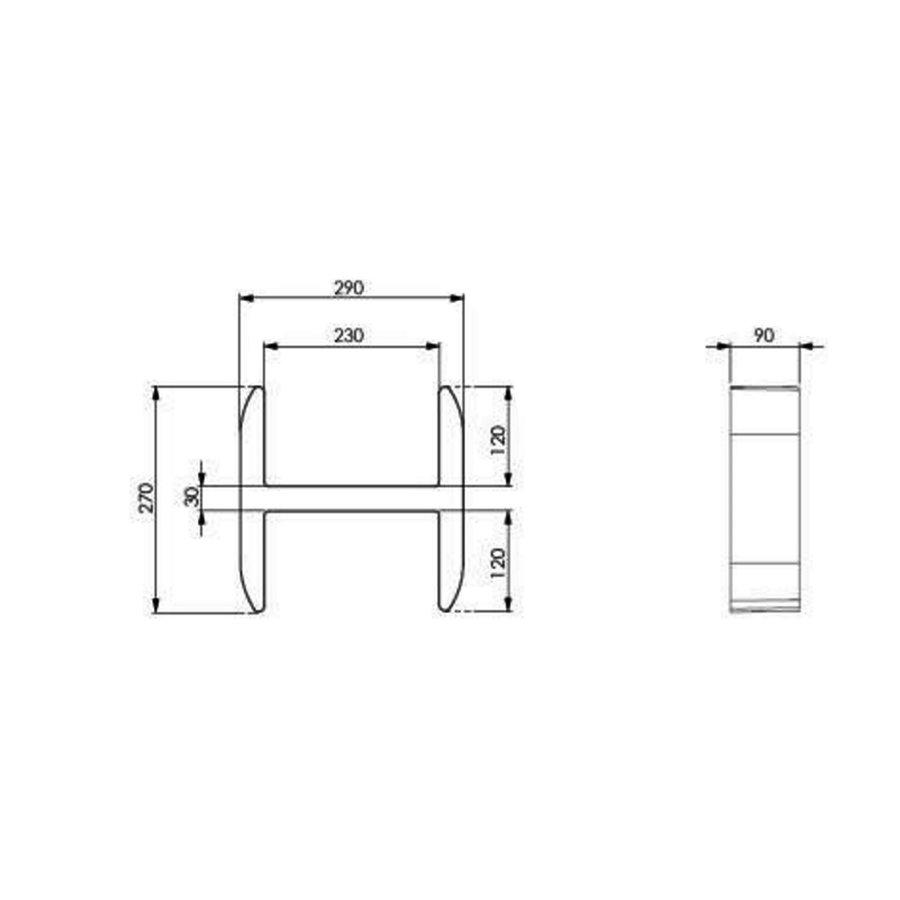 Planchet Damast Lettering-H 29x27 cm Crème