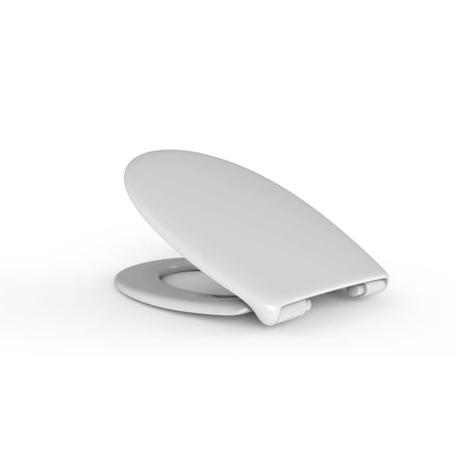Toilet Zitting Van Marcke Haro Perca Softclose Take-off Thermoplast Wit