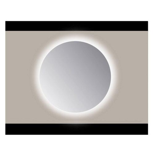 Spiegel Rond Sanicare Q 85 cm Ambi Cold White LED PP Geslepen (Met Sensor)
