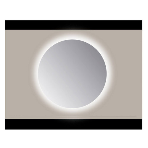 Spiegel Rond Sanicare Q 50 cm Ambi Warm White LED PP Geslepen (Met Sensor)