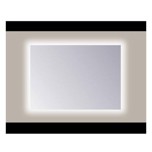 Spiegel Sanicare Q-mirrors Zonder Omlijsting 60 x 65 cm Rondom Warm White LED PP Geslepen