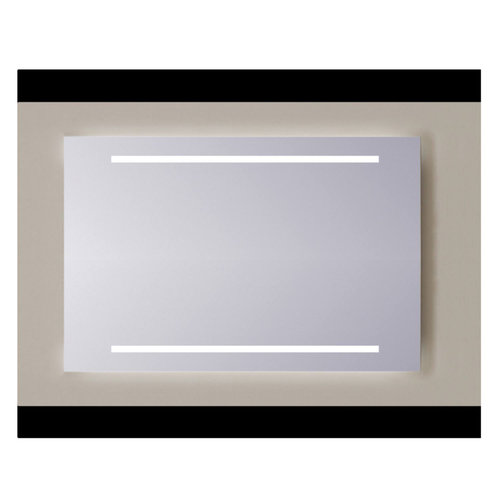 Spiegel Sanicare Q-mirrors Zonder Omlijsting 60 x 70 cm 2x Warm White LED PP Geslepen