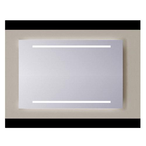 Spiegel Sanicare Q-mirrors Zonder Omlijsting 60 x 65 cm 2x Warm White LED PP Geslepen