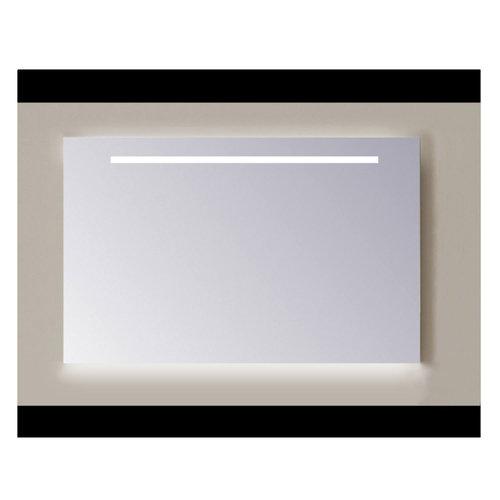 Spiegel Sanicare Q-mirrors 60 x 80 cm Cold White LED Ambi Licht Onder PP Geslepen