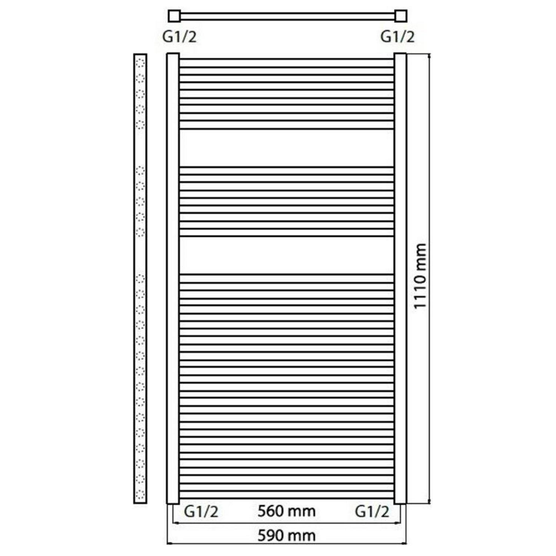Haceka Sahara Designradiator.Haceka Designradiator Haceka Sahara Adoria 59x111 Cm Wit 628 Watt