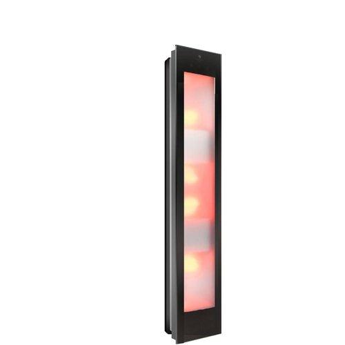 Sunshower Combi Mat Zwart UV en Infrarood Opbouwapparaat 29x144x22.8 cm Aluminium Mat Zwart