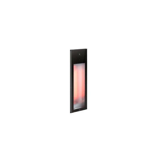 Sunshower Pure Mat Zwart Infrarood Inbouwapparaat 19.9x61.9x10 cm Half Body Aluminium Mat Zwart