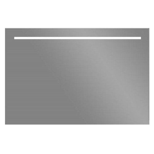 LED Spiegel Sanilux Aluminium met Onderverlichting 100x70 cm Inclusief Spiegelverwarming