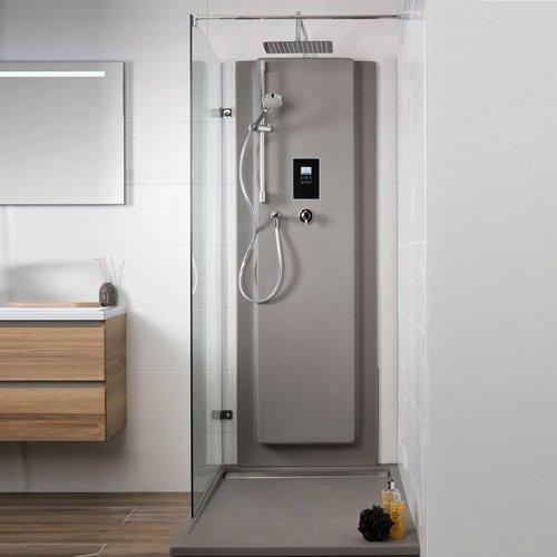 Waterbesparende Regendouche XenZ Upfall Premium 90x140x13.5 cm Thermostatisch Vierkant 30x30 cm Wit