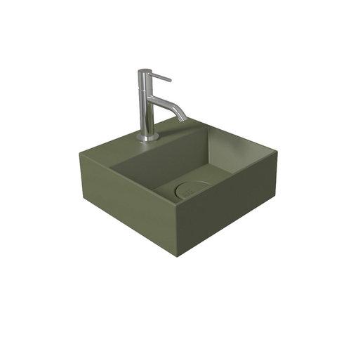 Fontein Salenzi Spy 30x30 cm Mat Groen (inclusief bijpassende clickwaste)