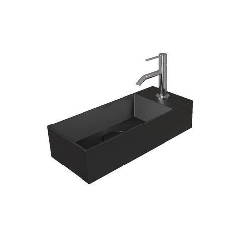 Fontein Salenzi Spy 45x20 cm Mat Zwart (inclusief bijpassende clickwaste)